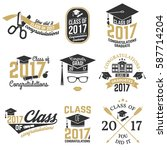 set of vector graduates class... | Shutterstock .eps vector #587714204