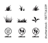 grass icon set | Shutterstock .eps vector #587716109