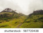 beautiful mountains in... | Shutterstock . vector #587720438