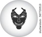 carnival or mardi gras mask... | Shutterstock .eps vector #587720513