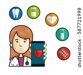 mobile health technology icons | Shutterstock .eps vector #587721998