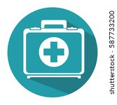 medical kit isolated icon | Shutterstock .eps vector #587733200
