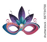 mask carnival party icon | Shutterstock .eps vector #587734700