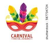 mask carnival rio de janeiro... | Shutterstock .eps vector #587734724