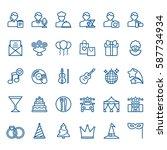 simple linear set of... | Shutterstock .eps vector #587734934