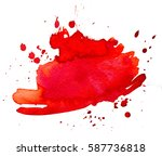 colorful abstract watercolor... | Shutterstock .eps vector #587736818