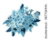elegant floral bouquet  design... | Shutterstock . vector #587736944
