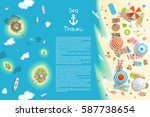 vector illustration. summer... | Shutterstock .eps vector #587738654