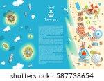 vector illustration. summer... | Shutterstock .eps vector #587738654