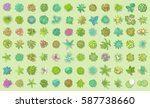 vector set. trees top view.... | Shutterstock .eps vector #587738660