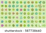 vector set. trees top view.... | Shutterstock .eps vector #587738660