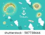 vector illustration. summer... | Shutterstock .eps vector #587738666