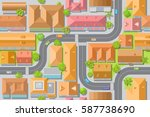 seamless pattern cityscape. ... | Shutterstock .eps vector #587738690