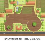 vector illustration. rural... | Shutterstock .eps vector #587738708