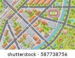vector illustration. city top... | Shutterstock .eps vector #587738756