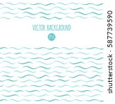 waves vector background. marine ... | Shutterstock .eps vector #587739590
