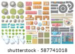 set of landscape elements.... | Shutterstock .eps vector #587741018