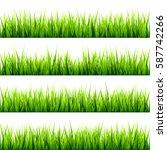 grass set. spring  summer time. ... | Shutterstock .eps vector #587742266