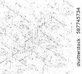 distressed overlay texture of... | Shutterstock .eps vector #587745734