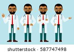set of  arab medical people ... | Shutterstock .eps vector #587747498