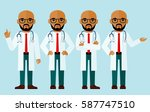 set of  arab medical people ... | Shutterstock .eps vector #587747510