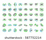 set of 360 degrees view vector... | Shutterstock .eps vector #587752214
