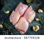 raw free range boneless... | Shutterstock . vector #587759228