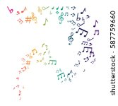 music notes symbol icon vector...