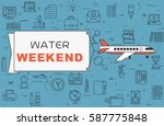 "airplane with banner ""water... 