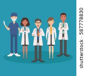 group of doctors and medical... | Shutterstock .eps vector #587778830