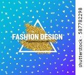 fashion design template for...   Shutterstock .eps vector #587782298