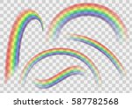 transparent rainbow set