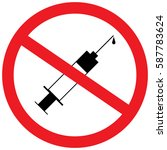 no needle. prohibited sign | Shutterstock .eps vector #587783624