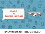 """airplane with banner """"made in...   Shutterstock .eps vector #587784680"""