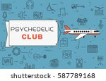 airplane with banner ...   Shutterstock .eps vector #587789168