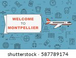 """airplane with banner """"welcome...   Shutterstock .eps vector #587789174"""