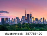 toronto city view from... | Shutterstock . vector #587789420