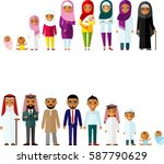all age group of arab family.... | Shutterstock .eps vector #587790629