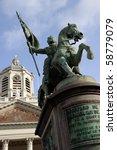 statue of the hero godfrey of...   Shutterstock . vector #58779079