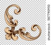 corner ornament in baroque... | Shutterstock .eps vector #587790950