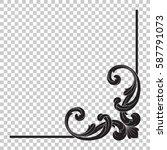 corner ornament in baroque... | Shutterstock .eps vector #587791073