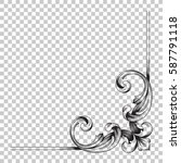 corner ornament in baroque... | Shutterstock .eps vector #587791118