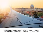 travel by plane to rome | Shutterstock . vector #587793893