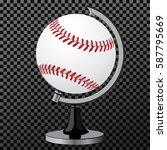 vector baseball. baseball globe ... | Shutterstock .eps vector #587795669
