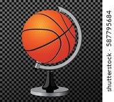 vector ball. a creative concept ... | Shutterstock .eps vector #587795684
