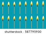 vector illustration of burning...
