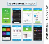 mobile apps design for notes...
