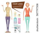 hair loss conceptual... | Shutterstock .eps vector #587797508