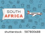 """airplane with banner """"south...   Shutterstock .eps vector #587800688"""