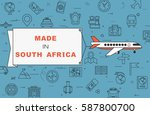 """airplane with banner """"made in...   Shutterstock .eps vector #587800700"""